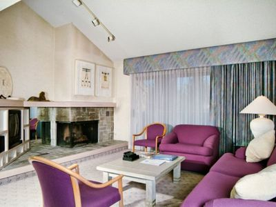 Reno condo rental - Living Room with Fireplace at the Club Lakeridge Resort