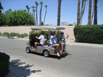 Golf Cart for 4 to the Pool, the Club House for a Meal or an Evening Drive.