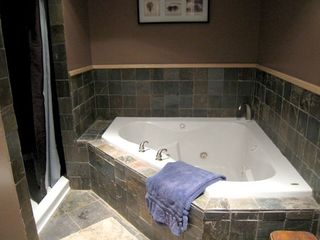 Alburg estate photo - Spa Bath with Dry Sauna, 2 Person Jet Tub, 2 Person shower. 1 of 3 bathrooms.