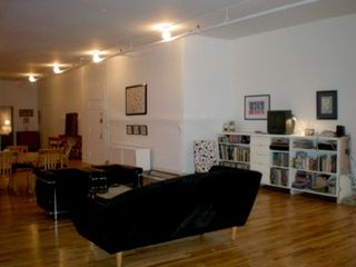 SoHo apartment photo - partial open living area, with BR far in back, from southern window