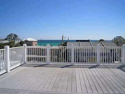 Third floor open deck with Gulf view