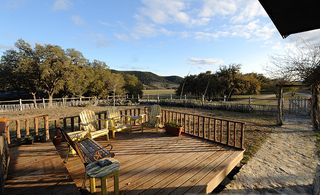 Bandera cottage photo - Front Deck