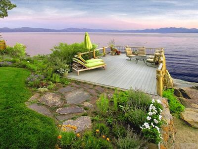 South Facing Lake Front Deck With Panoramic Views