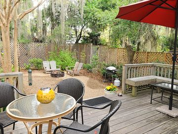 Beaufort townhome rental - View from the deck of our back yard