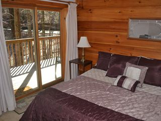 Gatlinburg chalet photo - Beautiful view from the second bedroom. Both bedrooms are King beds.
