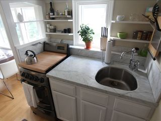 San Francisco house photo - Kitchen with marble countertops and stainless steel appliances