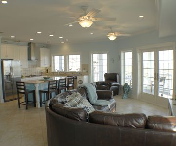 Port Aransas house rental - Living area on 2nd floor