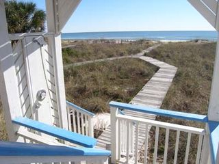 St George Island cottage photo - The beach is right there!