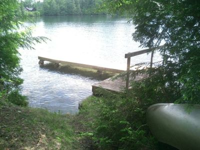 Dock on Caspian Lake, shared with Eyrie