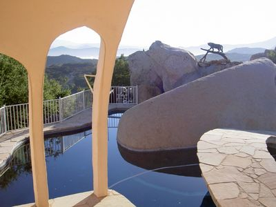 Jamul house rental - View from poolside bedroom