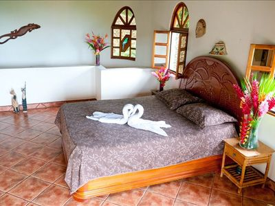 Dominical villa rental - Bedroom with Ocean view