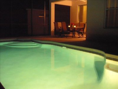 Crystal Cove villa rental - Villa La Palme D'Or 'The pool by night'