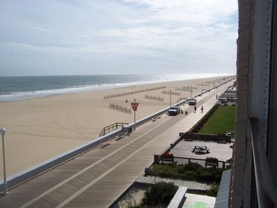 View of Boardwalk and ocean from balcony