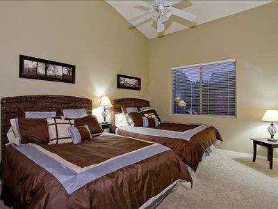"Bedroom #3 has two Queen beds, 36"" flat panel TV and spacious closet"