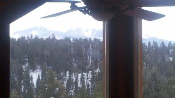 view of Pikes Peak from living room