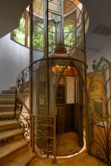 West Hollywood house photo - Stairwell and elevator.