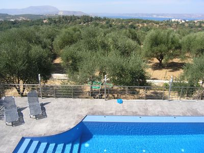 Almirida villa rental - Sea Views from the upper balony