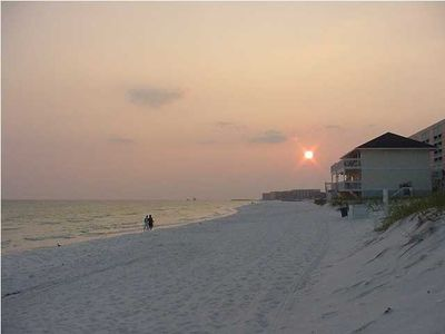 Destin beach at Sunset.