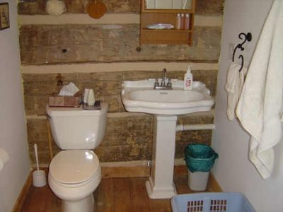 Mount Judea cabin rental - Bathroom on Main Floor