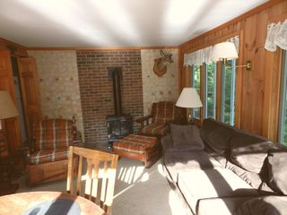Moultonborough house photo - Sunroom heated w Gas Fireplace & Electric Heat.