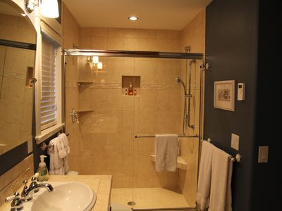 Main level: Two person shower in Master Bath.