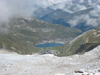 View from the Grande Motte to Tignes