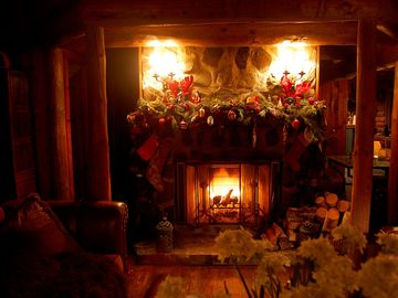 Holiday Season by the fireplace