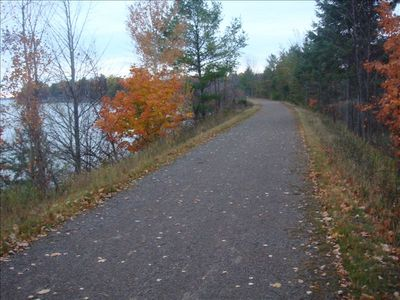 The Biking/Snowmobile Trail - 300 ft. from cabin