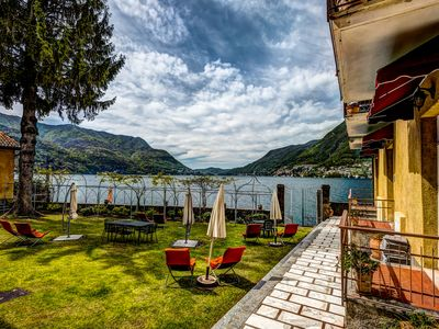 Beautiful spring day on Lake Como from the Lake Como Beach Resort