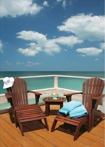 The main sunset deck gives you the best views of the gulf and beach!