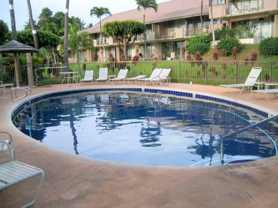 This is another lovely pool located on the opposite site of the building.