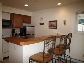 Onekama condo photo - Open kitchen with bar