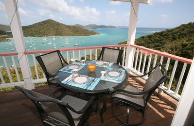 View from deck east St John and British Virgin Islands