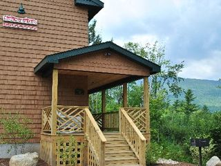 Wilmington chalet photo - Check out that view! This is the side entrance to the home.