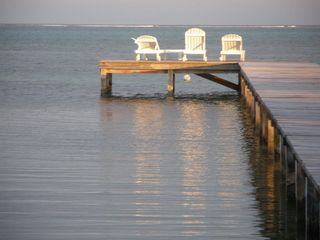 Ambergris Caye house photo - Chairs on the End of the Dock