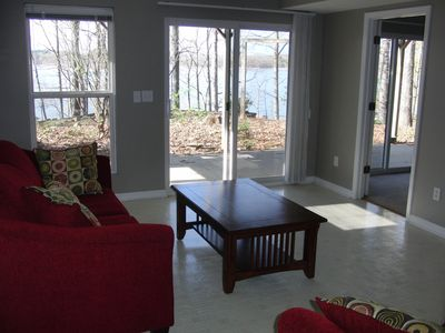 Living Room #2, adjacent to master bedroom also providing incredible lake views