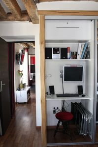Wardrobe with office space & computer