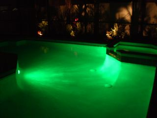 Haines City house photo - pool lights for night time recreation
