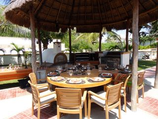 A Chef's BBQ Area - Wood Burning Oven, Argentinean Carbon Grill & Gas Grill - Playa del Carmen house vacation rental photo