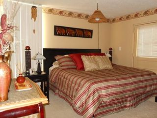 Indian Rocks Beach condo photo - Bedroom w comfortable king size bed. Large closet