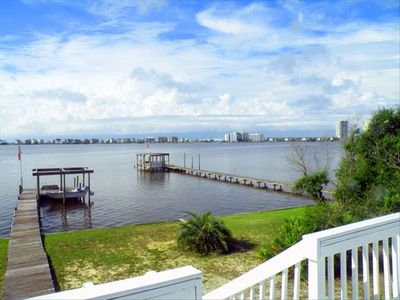 Enjoy gorgeous water views as you soak in the sun from the upstairs deck!