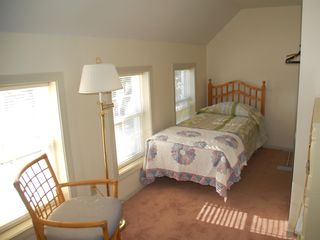 Georgetown house photo - Upstairs bedroom with 3 twin beds and water view.