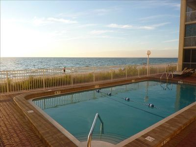 Feel like you are on the beach while you are swimming at the pool!