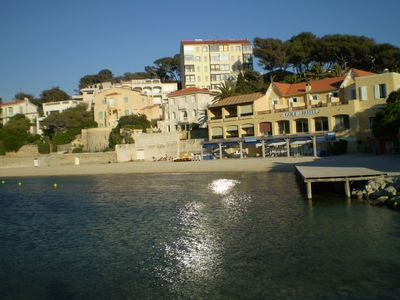 Elegant one bedroom flat, 50m from sandy beach , 100m village