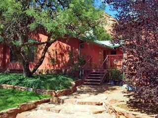 Sedona house photo - Entry to Home with Deck and Seating