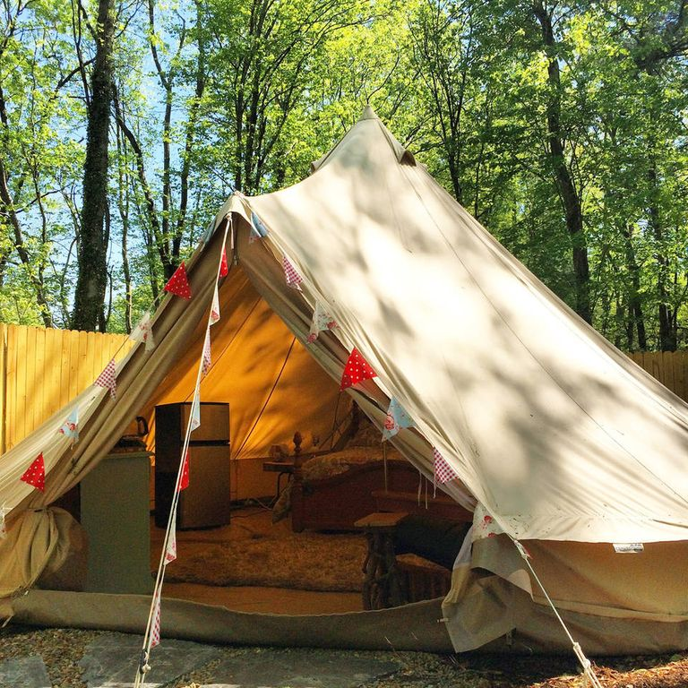 Apartment Finder Asheville Nc: Asheville Glamping- Bell Tent With HOT TUB!