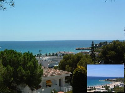 Apartment with sea views near the beach, privat garden&Pool.Dogs welcome