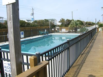 Kure Beach townhome rental - Outdoor pool short walk through parking lot from 1600 building.