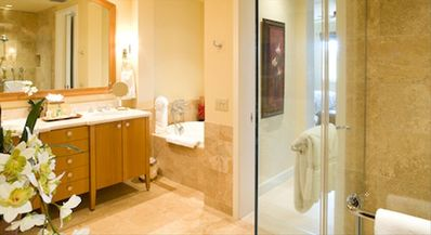 Master bath is an oasis of luxury