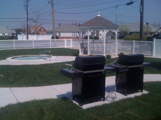 Wildwood Crest condo photo - BBQ/Gazebo Area